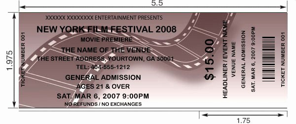 Create Your Own Tickets Template Fresh Customized Film Movie Tickets Printed and Shipped today
