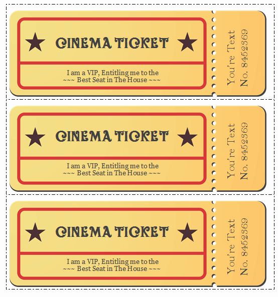 Create Your Own Tickets Template Inspirational 6 Movie Ticket Templates to Design Customized Tickets