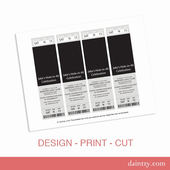 Create Your Own Tickets Template Lovely event Ticket Invitation Template Printable Diy