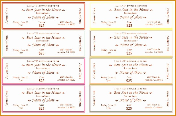 Create Your Own Tickets Template Luxury 6 Create Your Own Concert Ticket Besttemplates