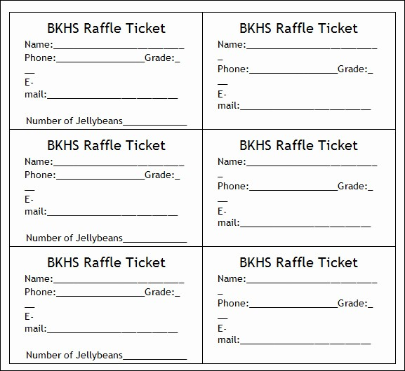 Create Your Own Tickets Template Unique 7 Best Of Make Your Own Raffle Tickets Blank