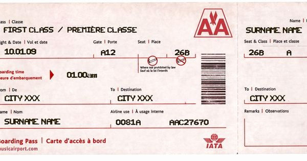 "Create Your Own Tickets Template Unique A Printable or Emailable ""boarding Pass"" You Fill In the"
