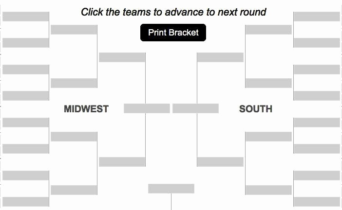 Create Your Own tournament Bracket Awesome Create Your Own Bracket Ncaa Men S Basketball tournament