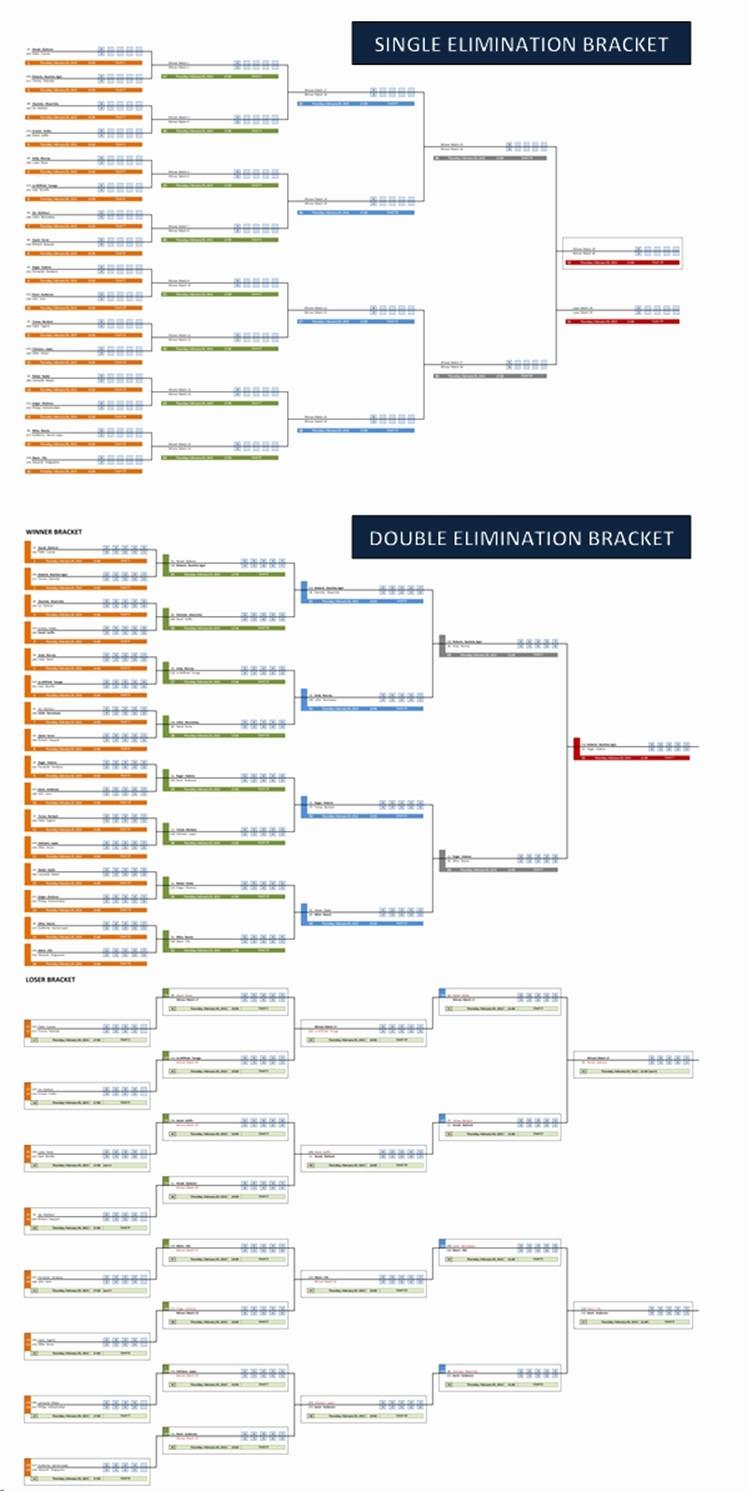 Create Your Own tournament Bracket Elegant Single and Double Elimination tournament Bracket Creator