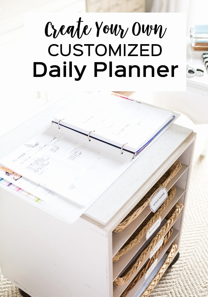 Create Your Own Weekly Calendar Elegant My Planner Free Printable Daily Planner Inserts