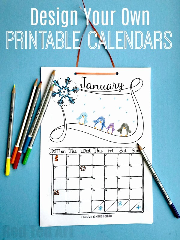 Create Your Own Weekly Calendar Lovely Free Cute Printable Calendar 2019 Red Ted Art S Blog