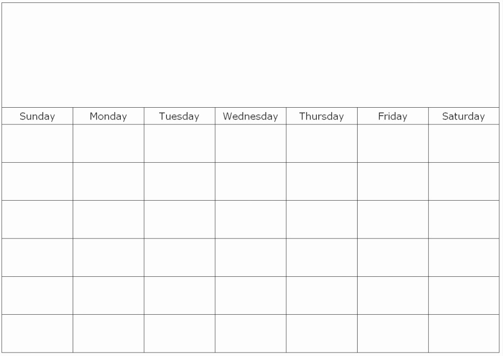 Create Your Own Weekly Calendar Lovely Monthly Blank Calendar Page with Regard to Make Your Own