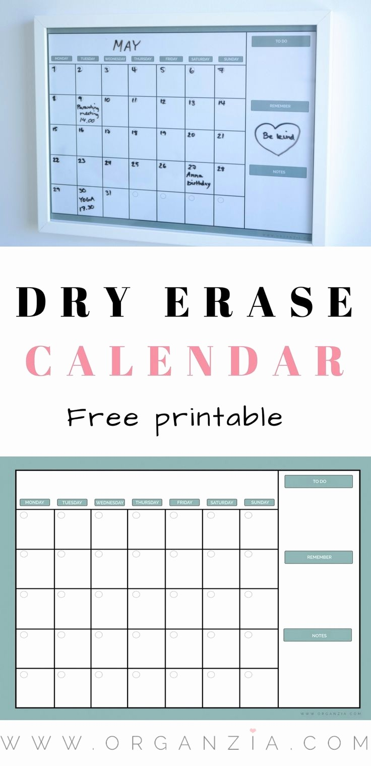 Create Your Own Weekly Calendar Unique Best 25 Dry Erase Calendar Ideas On Pinterest