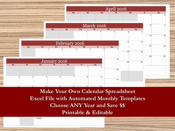 Create Your Own Weekly Calendar Unique Make Your Own Calendar 2017 18 Monthly Calendar 12 Month