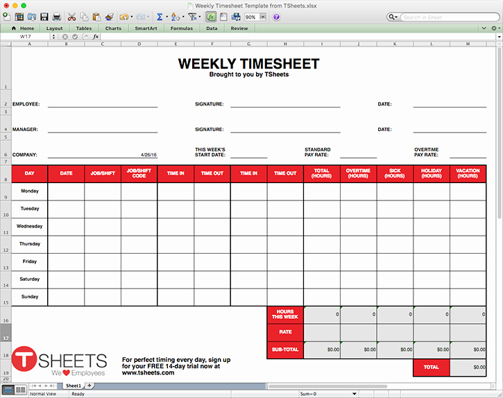 Creating A Timesheet In Excel Awesome Timesheet Template Excel Timesheet Monthly Weekly