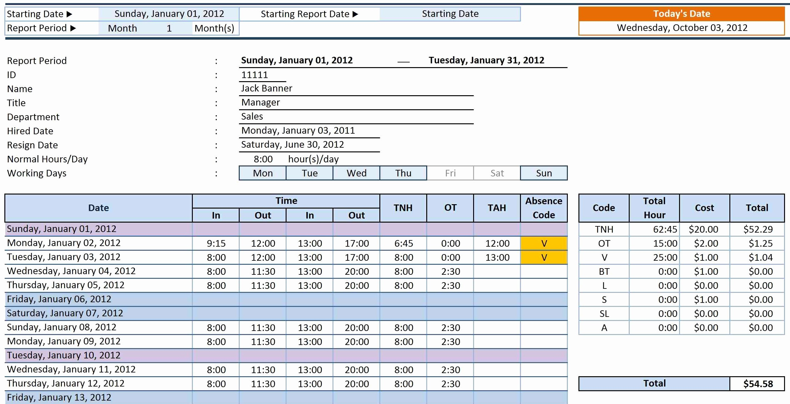 Creating A Timesheet In Excel Elegant Employee Time Sheet Manager Excel Templates