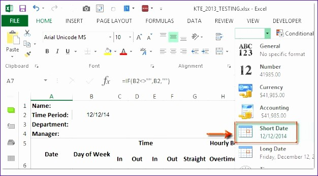 Creating A Timesheet In Excel Fresh 6 Timecard Template Excel 2010 Exceltemplates