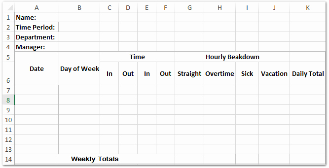Creating A Timesheet In Excel Fresh How to Create A Time Sheet Template In Excel
