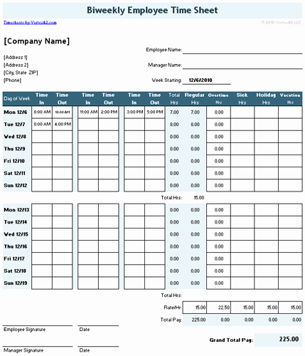 Creating A Timesheet In Excel Fresh Time Sheet Template for Excel Timesheet Calculator