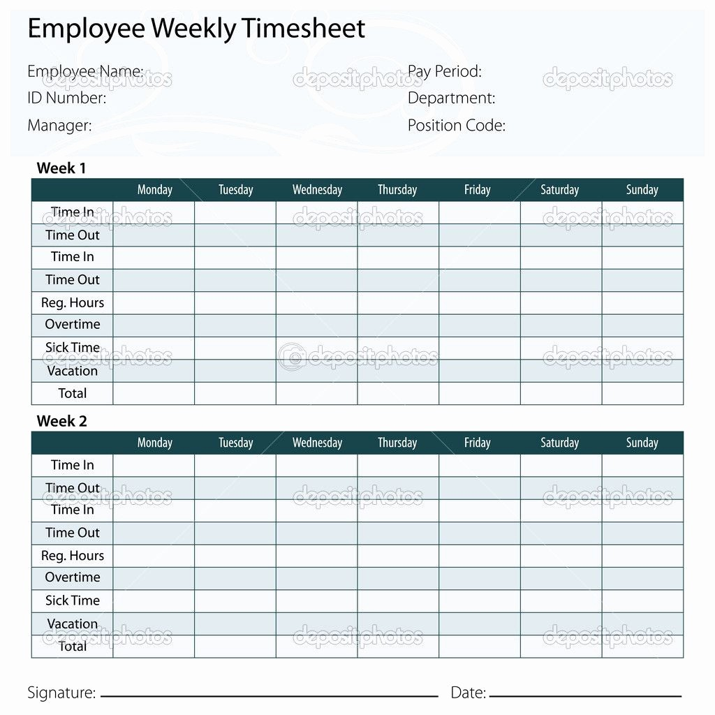 Creating A Timesheet In Excel Inspirational Free Printable Timesheet Templates