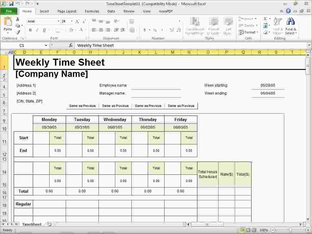 Creating A Timesheet In Excel Inspirational How to Make Timesheets In Excel 2007 Create A Timesheet