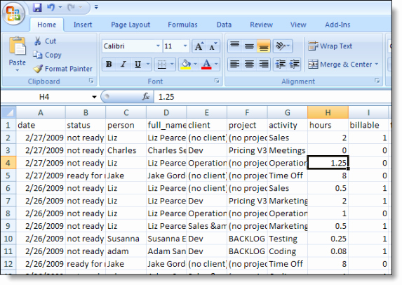 Creating A Timesheet In Excel Luxury Timesheet Data Analysis In Excel Liquidplanner