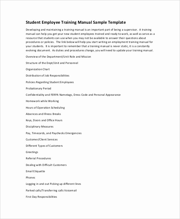 Creating A Training Manual Template Awesome 10 Free User Manual Template Samples In Word Pdf format