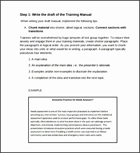 Creating A Training Manual Template Awesome 9 Training Guide Template Sampletemplatess