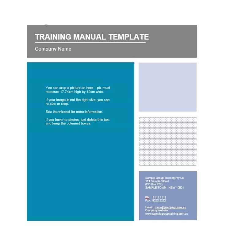 Creating A Training Manual Template Awesome Training Manual 40 Free Templates & Examples In Ms Word