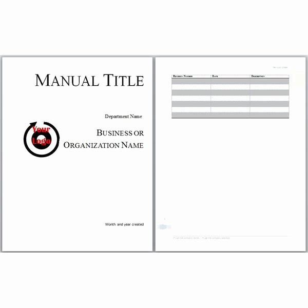 Creating A Training Manual Template Elegant Microsoft Word Manual Template Basic and Employment
