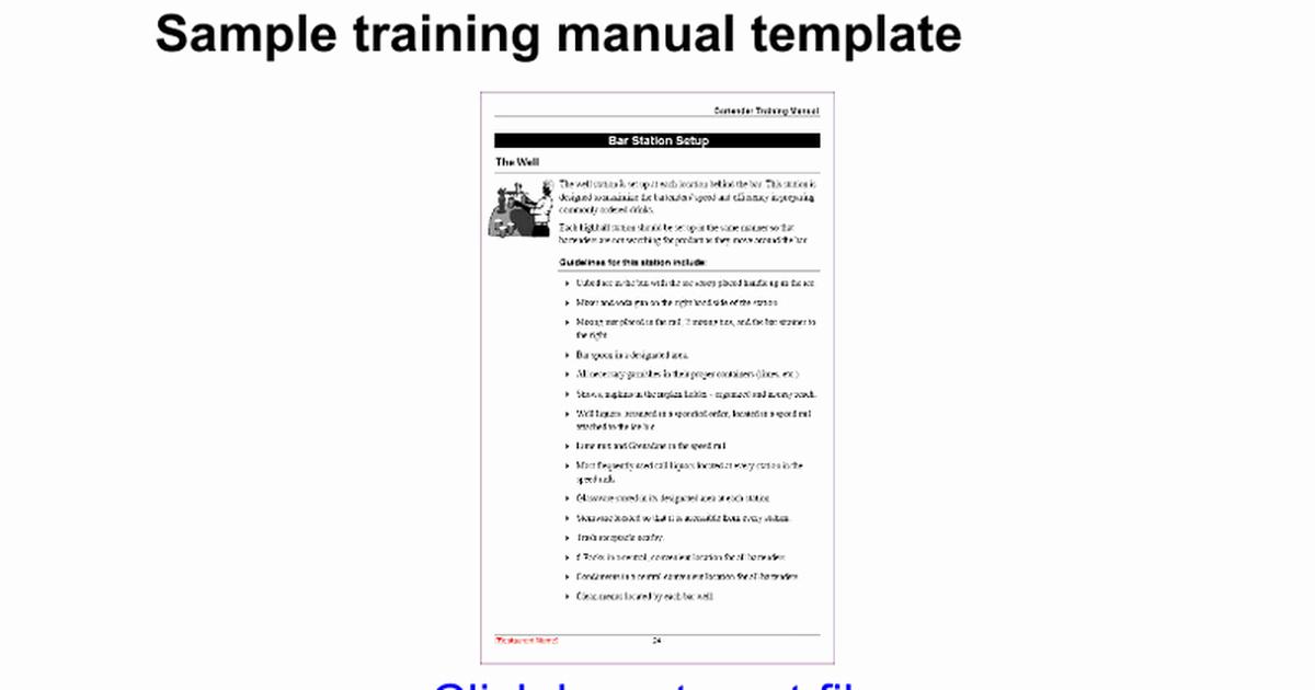 Creating A Training Manual Template Elegant Sample Training Manual Template Google Docs