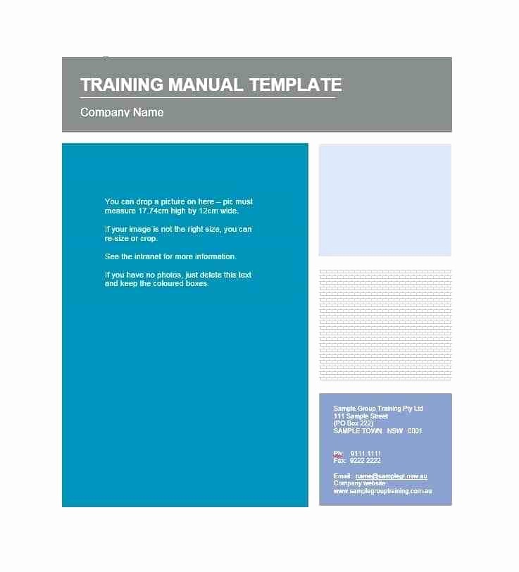 Creating A Training Manual Template Inspirational Create A Training Manual Template Trainer Examples