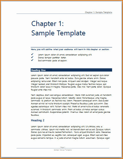 3 training manual template word