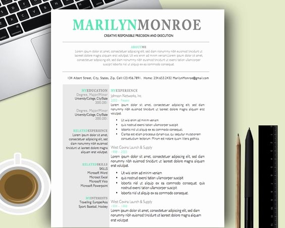 Creative Resume Template for Word Awesome Premium and Creative Resume Templates Cover Letters