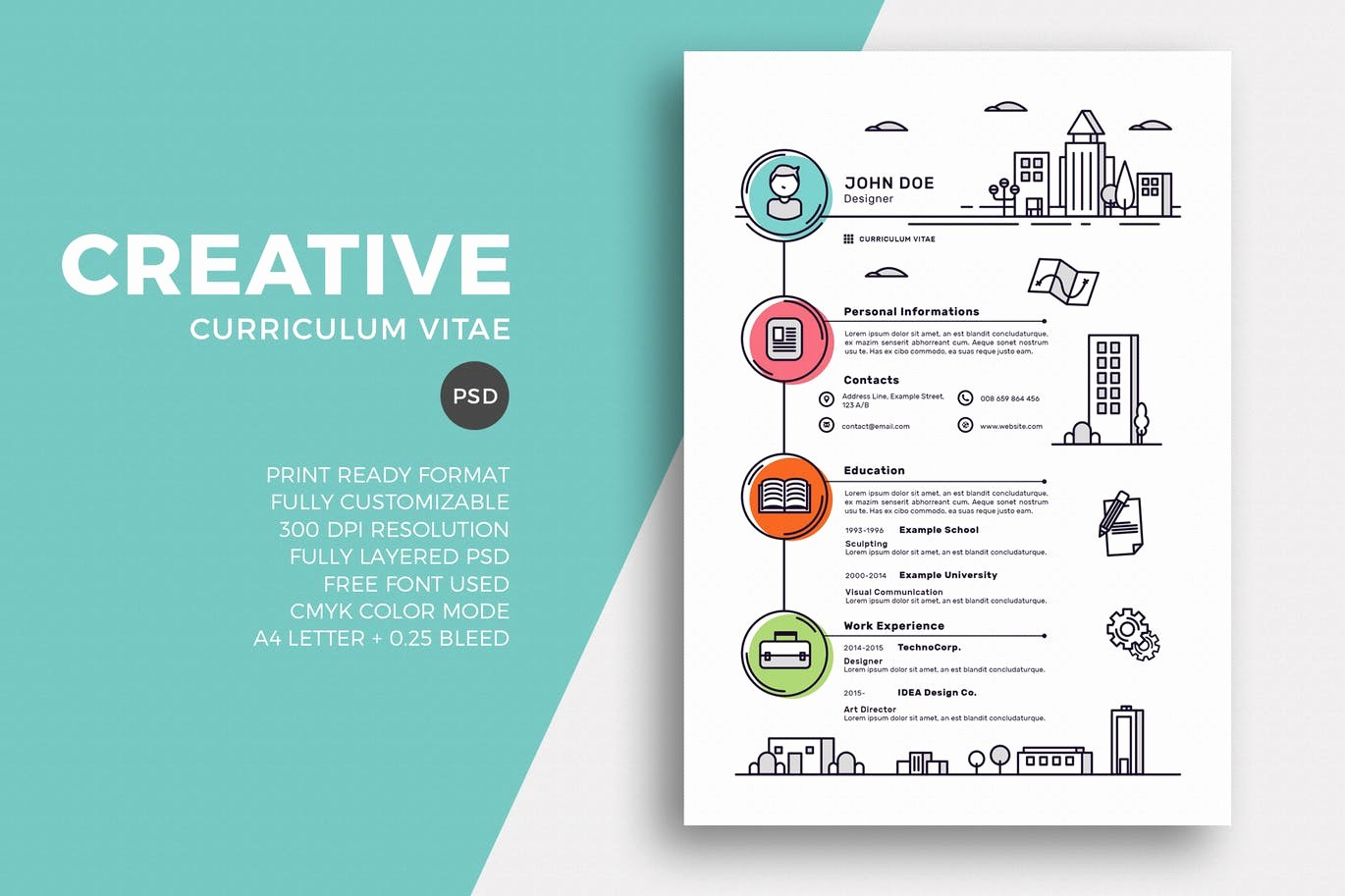 Creative Resume Template for Word Beautiful 50 Best Cv & Resume Templates Of 2019