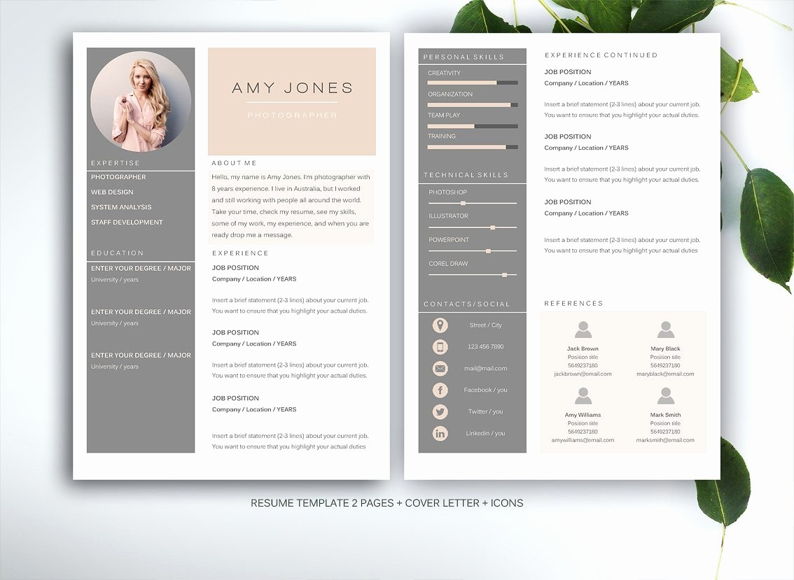 Creative Resume Template for Word Best Of Resume Template for Ms Word Resume Templates Creative