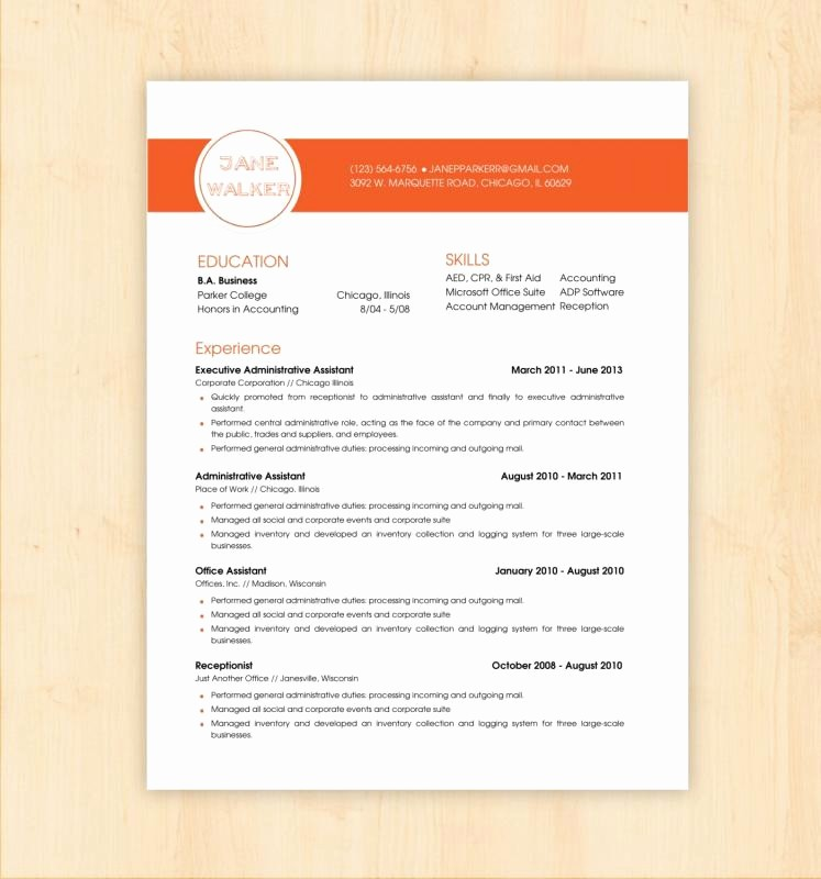Creative Resume Template for Word Elegant Full Page Recipe Template for Word