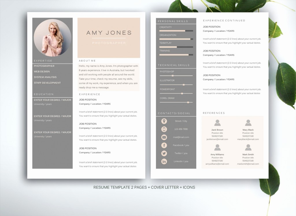 Creative Resume Template for Word Fresh 10 Resume Templates to Help You A New Job Premiumcoding