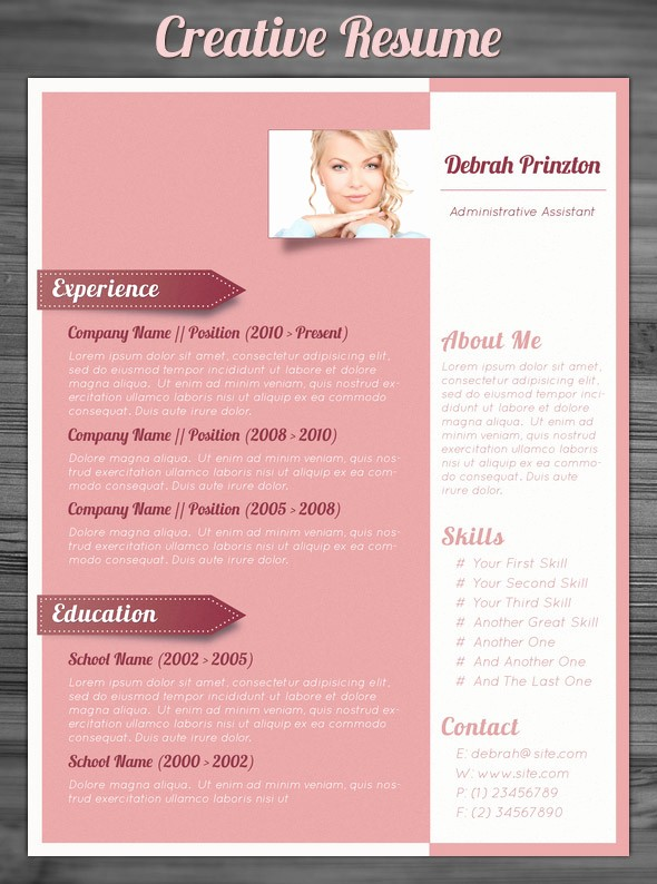 Creative Resume Template for Word Fresh 21 Stunning Creative Resume Templates