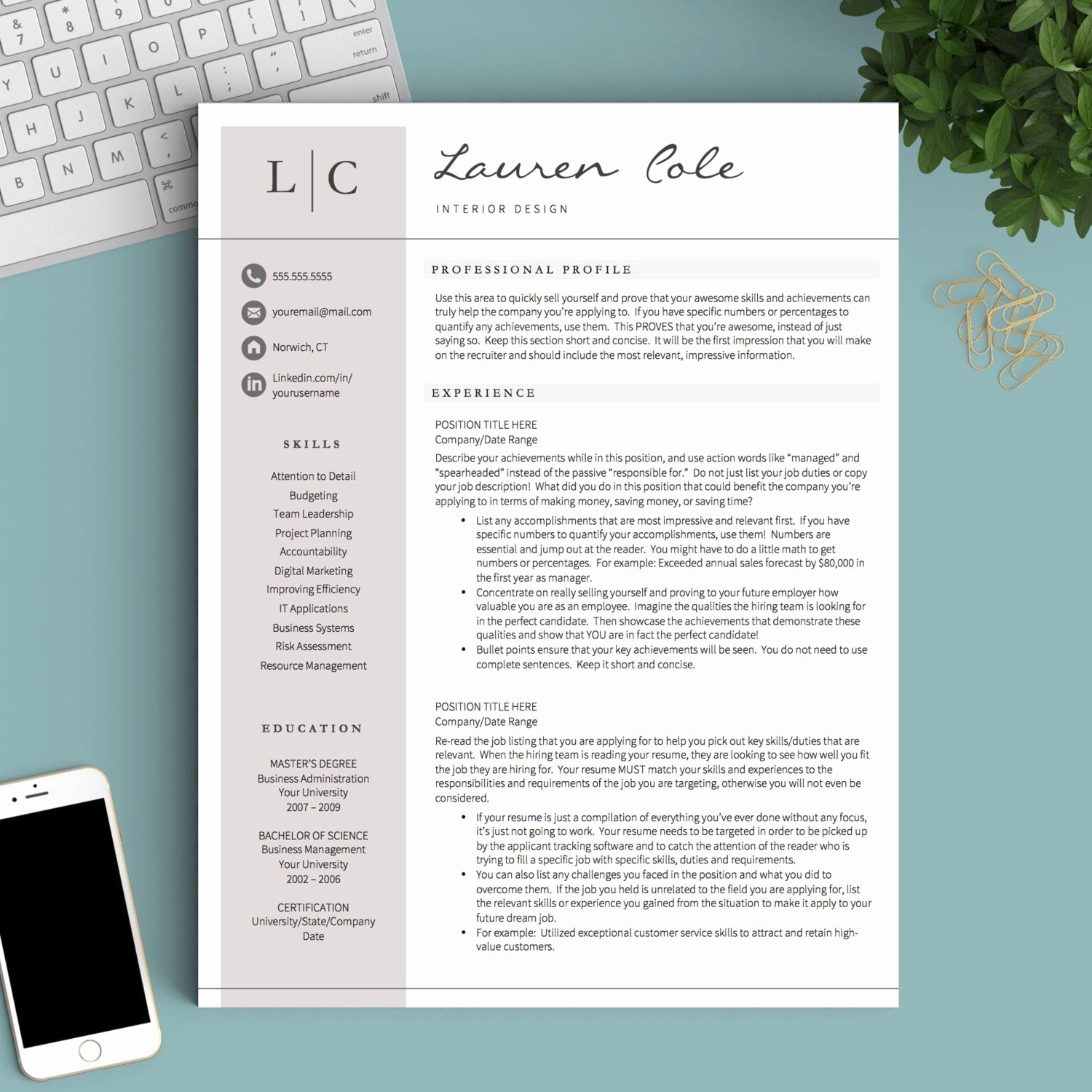 Creative Resume Template for Word Fresh Creative Resume Template for Word & Pages 1 2 and 3 Page