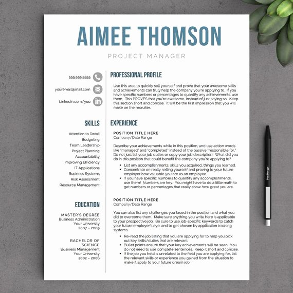 Creative Resume Template for Word Inspirational 142 Best Professional Resume Templates Images On Pinterest