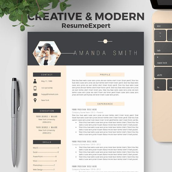 Creative Resume Template for Word Inspirational Best 20 Creative Resume Design Ideas On Pinterest
