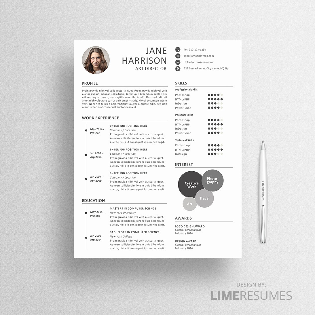 Creative Resume Template for Word Inspirational Creative Resume Template for Creatives Limeresumes