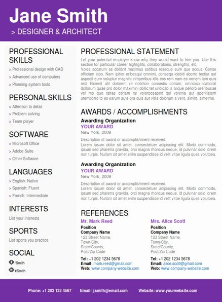 Creative Resume Template for Word Inspirational Cv Folio Creative Word Resume Templates