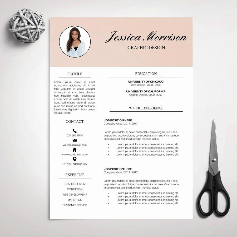 Creative Resume Template for Word Inspirational Resume Template Cv Template for Ms Word Cover Letter