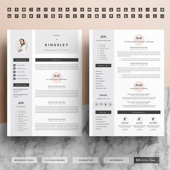 Creative Resume Template for Word Lovely Best 25 Creative Cv Template Ideas On Pinterest
