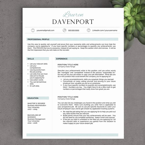 Creative Resume Template for Word Lovely Creative Resume Template for Word Free by Landeddesignstudio