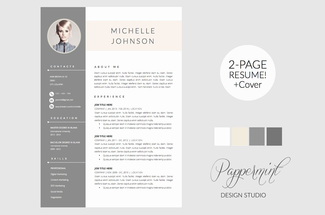 Creative Resume Template for Word Lovely Resume Template Cover Letter Word Cover Letter