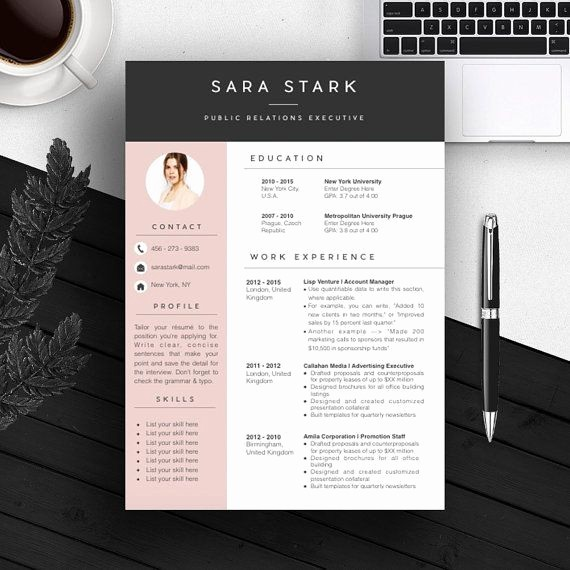 Creative Resume Template for Word New Best 25 Creative Cv Template Ideas On Pinterest