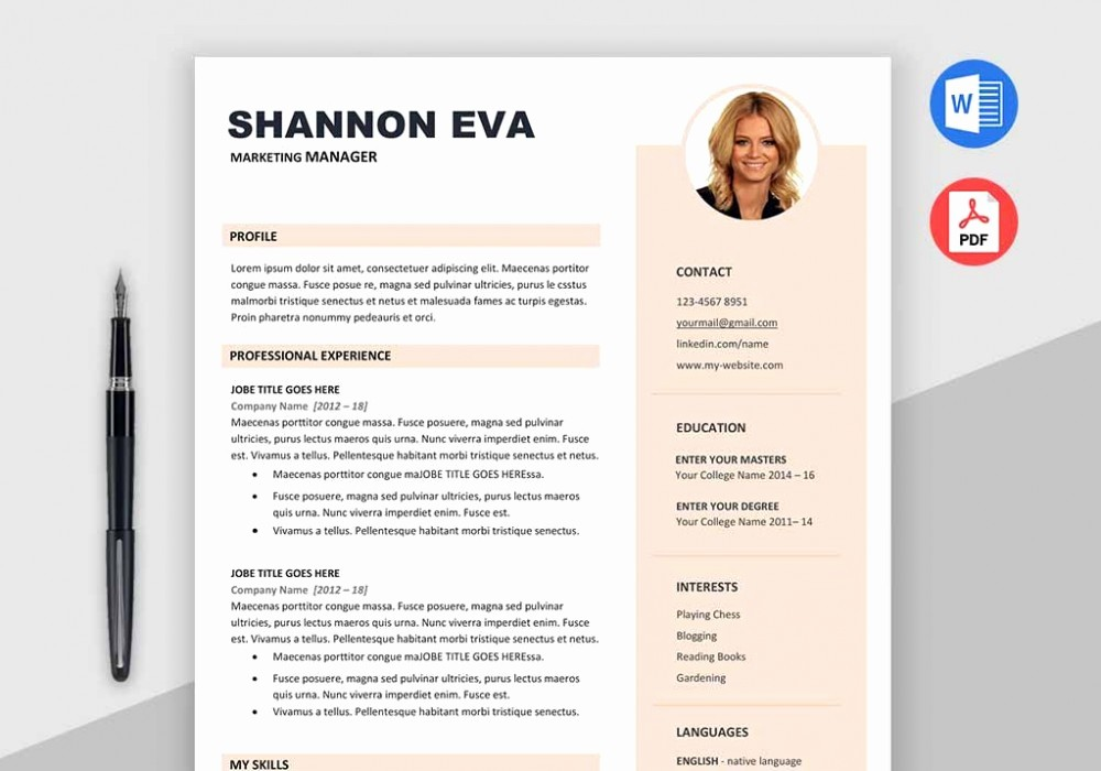 Creative Resume Template Microsoft Word Beautiful Shine Free Creative Resume Template Microsoft Word