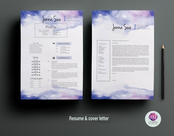 Creative Resume Template Microsoft Word Best Of 16 Ms Word Resume Templates with the Professional Look