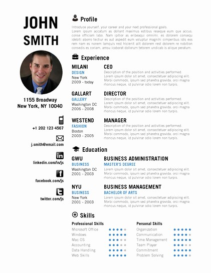 Creative Resume Template Microsoft Word Best Of Creative Resume Template Trendy Resumes