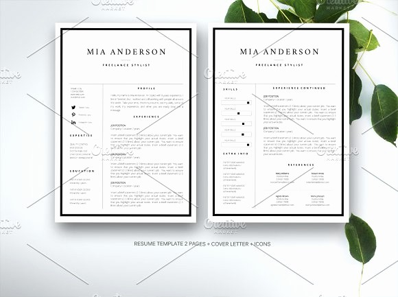 Creative Resume Template Microsoft Word Best Of Resume Template for Ms Word Resume Templates Creative