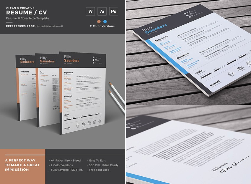 Creative Resume Template Microsoft Word Elegant 25 Professional Ms Word Resume Templates with Simple