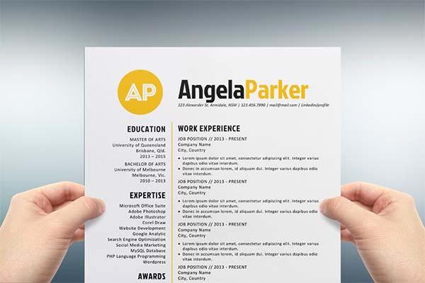 Creative Resume Template Microsoft Word Elegant Creative Resume Templates Free Download for Microsoft Word